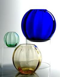 #4045 Heron Ball Vase