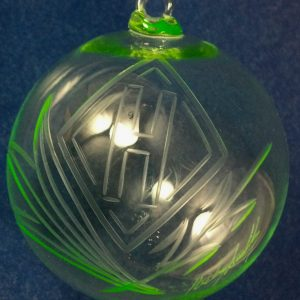2013 Limited Edition Heisey Canary Christmas Ornament